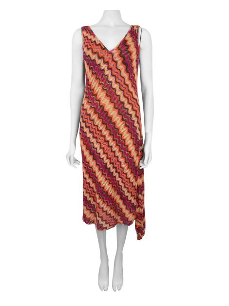 Vestido Missoni Regata Tricot Multicolor