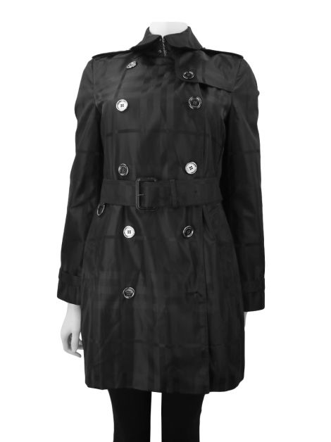 Trench Coat Burberry Quadriculado Preto