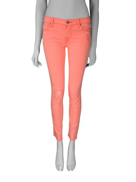 Calça Seven For All Mankind Skinny Rosa