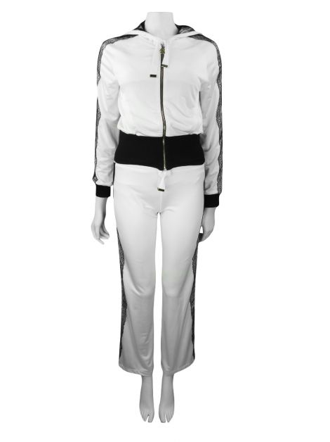 Conjunto Roberto Cavalli Gym Renda Off-White
