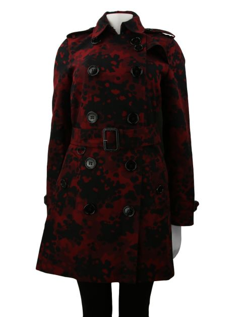 Trench Coat Burberry London Camouflage Vermelho