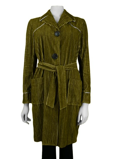 Trench Coat Christian Lacroix Veludo Verde