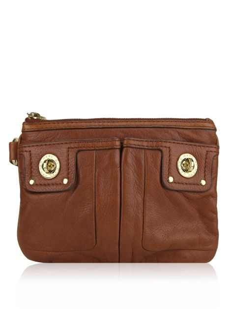 Clutch Marc Jacobs Couro Caramelo