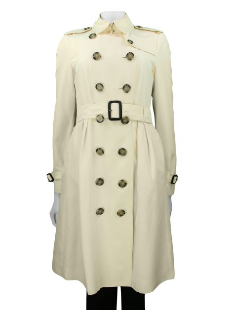 Trench Coat Burberry London Seda Creme
