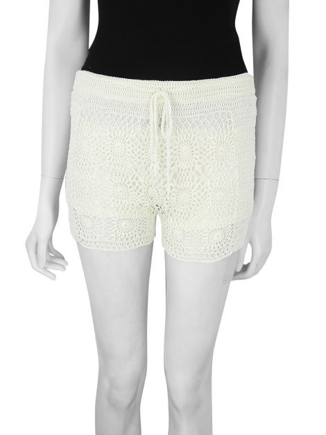 Shorts Bo.Bô Saint-Tropez Renda Off-White