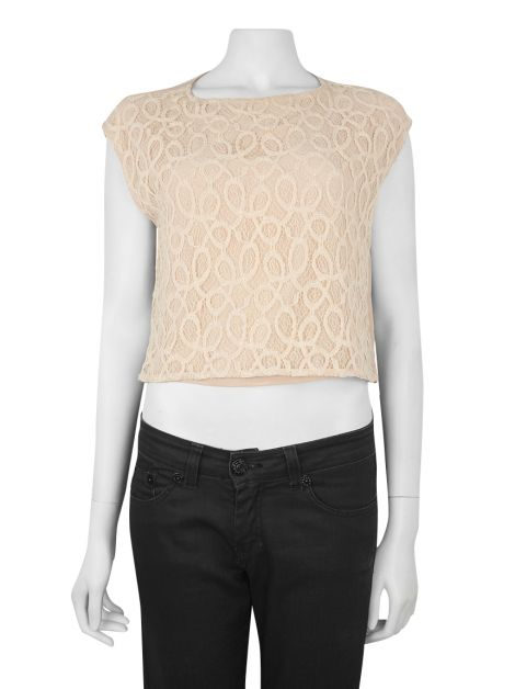 Blusa Mixed Seda Renda