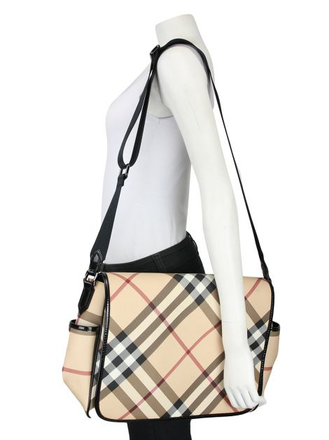 Bolsa Burberry Diaper Bag Estampada