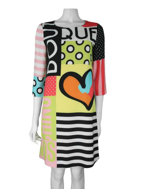 Vestido Moschinno Estampado Multicolor