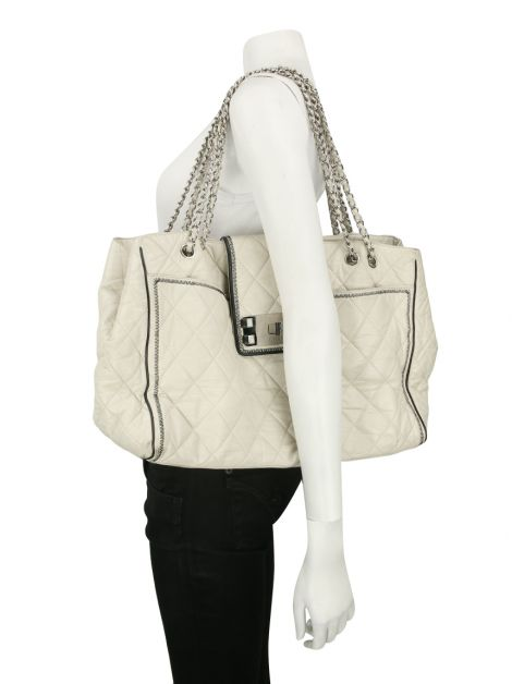 Bolsa Chanel Aged Calfskin Off-White