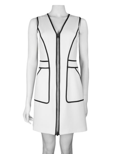 Vestido Armani Exchange Estruturado Off-White