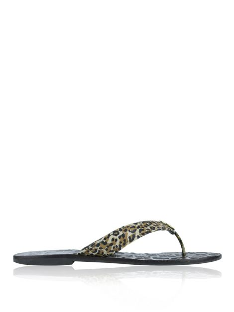 Rasteira Tory Burch Couro Animal Print