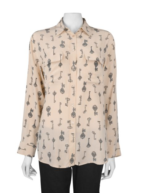 Camisa Equipment Femme Rosa Estampada
