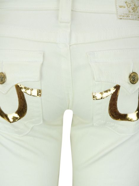 Calça True Religion Jeans Off White
