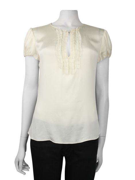 Blusa Carolina Herrera Seda Off White
