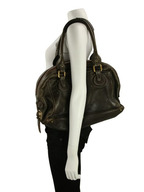 Bolsa Gianni Versace Couture Couro Drapeada