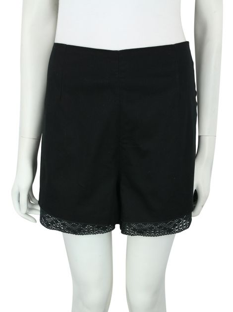 Shorts Mixed Tecido Preto