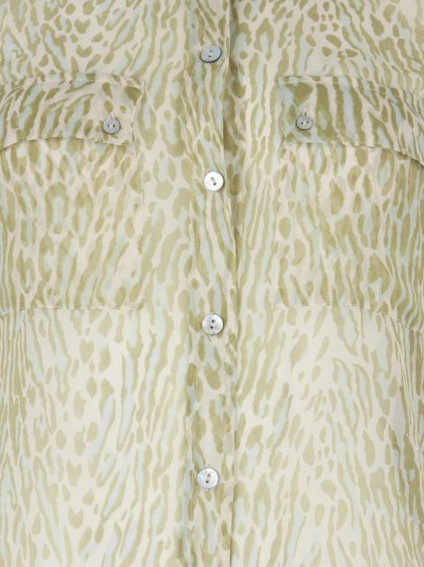 Camisa Equipment Femme Seda Animal Print