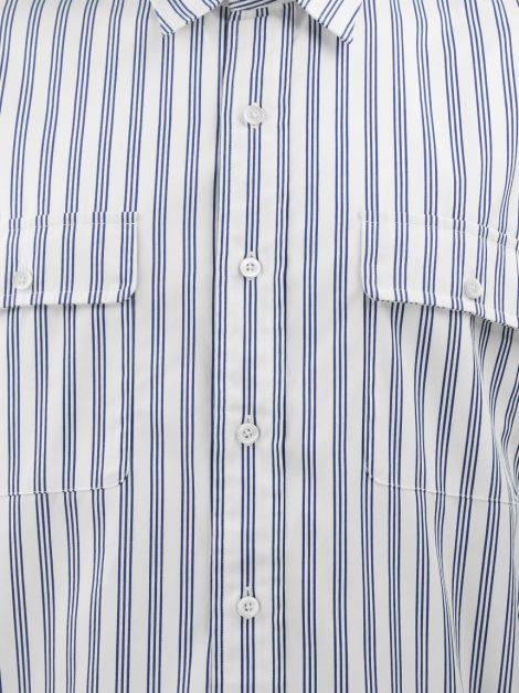 Camisa Polo By Ralph Lauren Branca Listrada Masculina