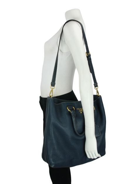 Bolsa Prada Large Shopping Tote Azul