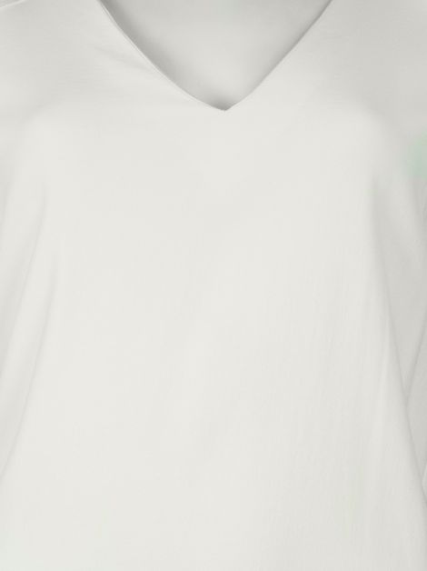 Blusa Mixed Decote V Off-White