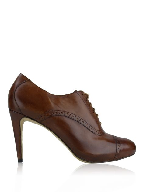 Ankle Boot Cole Haan Couro Caramelo