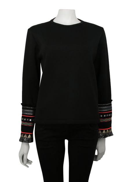 Blusa Bless the Mess Neoprene Preto
