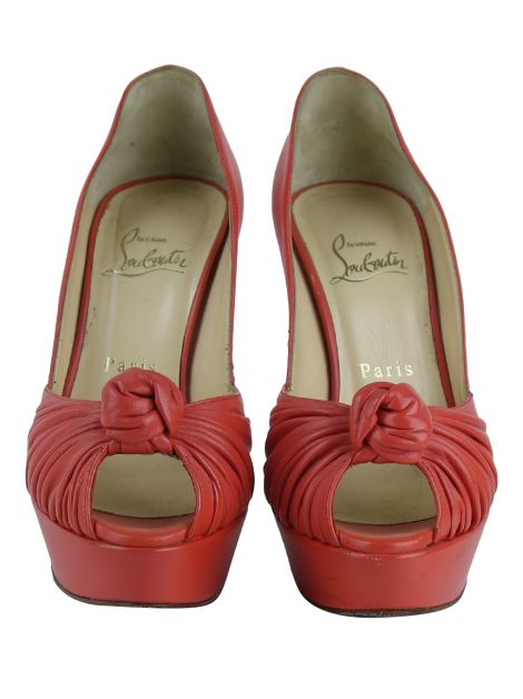 Sapato Christian Louboutin Jenny Knotted Coral