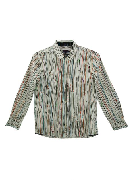 Camisa Paul Smith Junior Algodão Estampada Infantil