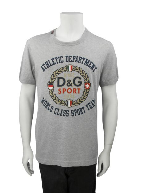 Camiseta D&G Athletic Department Cinza Masculina