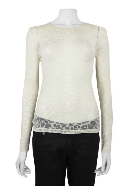 Blusa Stella McCartney Off-White Transparência