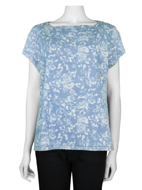 Blusa Mixed Denim Floral