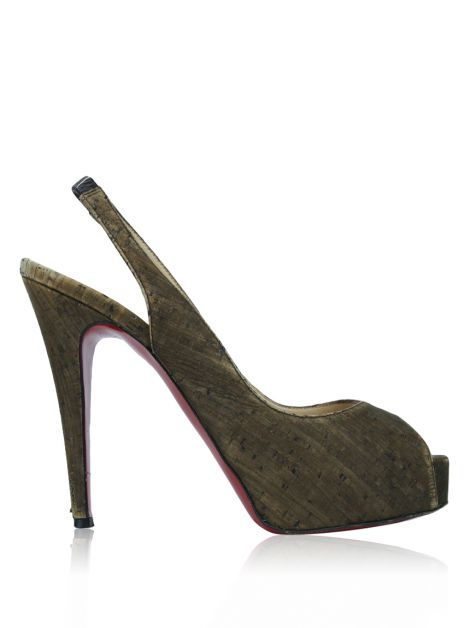 Peep Toe Christian Louboutin Private Number Marrom