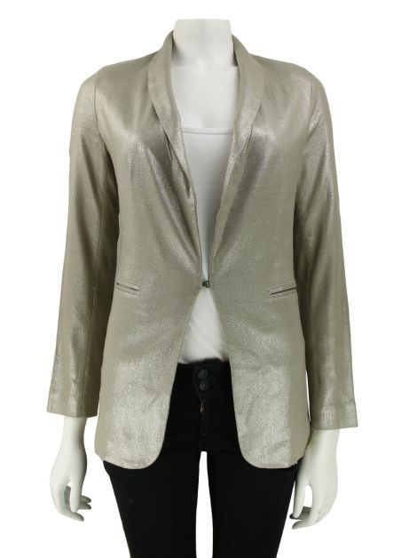 Blazer Mixed Gold Metalizado