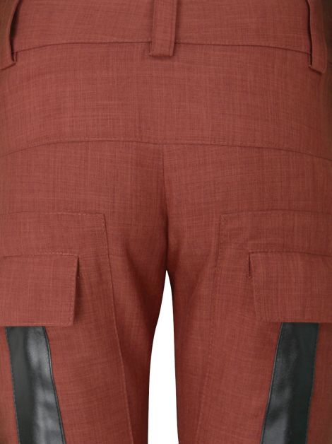 Calça Mixed Flare Terracota