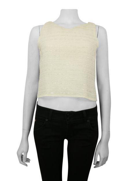 Blusa Chanel Tweed Off White