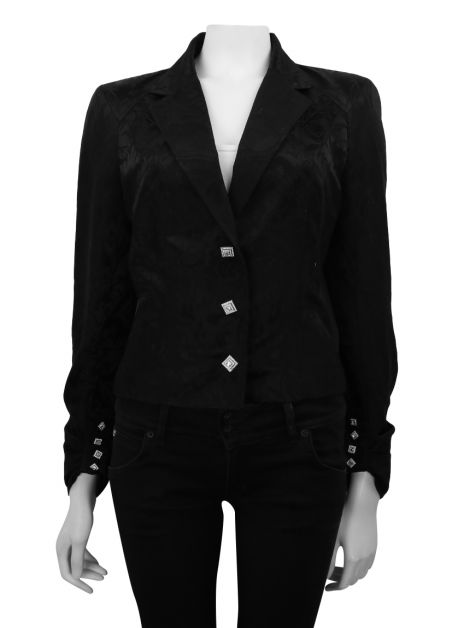 Blazer John Galliano Preto Estampado