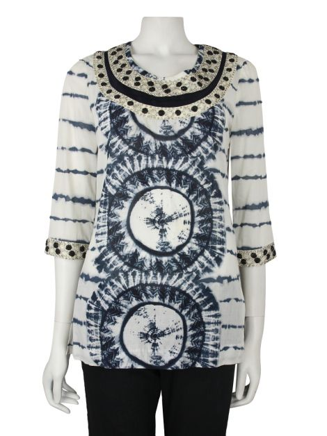 Blusa Tory Burch Tie Dye Bordada