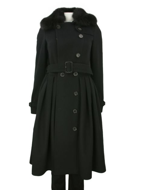 Trench coat Burberry Pelúcia Preto