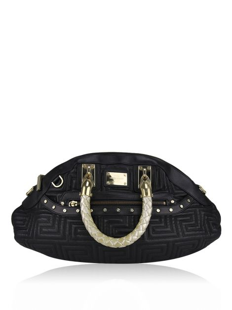 Bolsa Versace Couro Preta