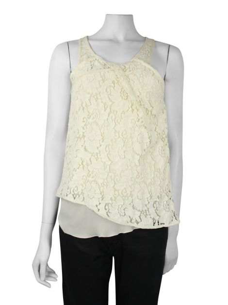 Blusa Cris Barros Renda Off-White