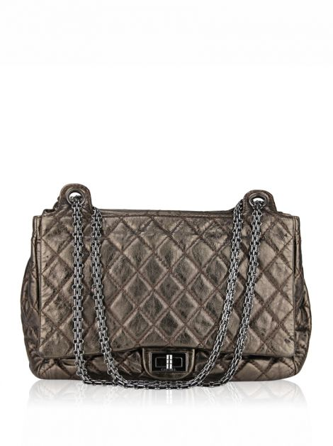 Bolsa Chanel Accordion Reissue Metálica