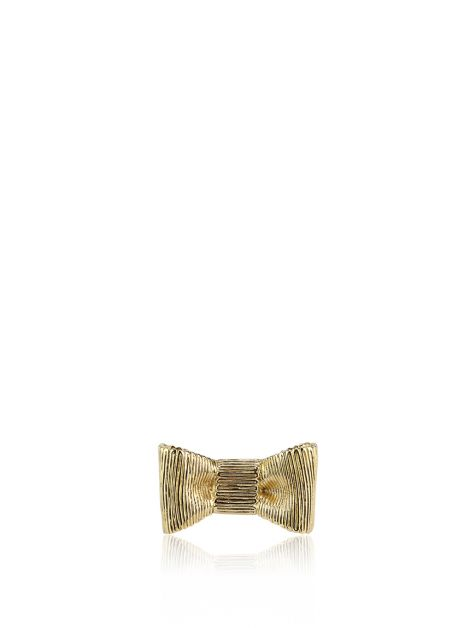 Anel Kate Spade All Wrapped Up Bow Ring Dourado