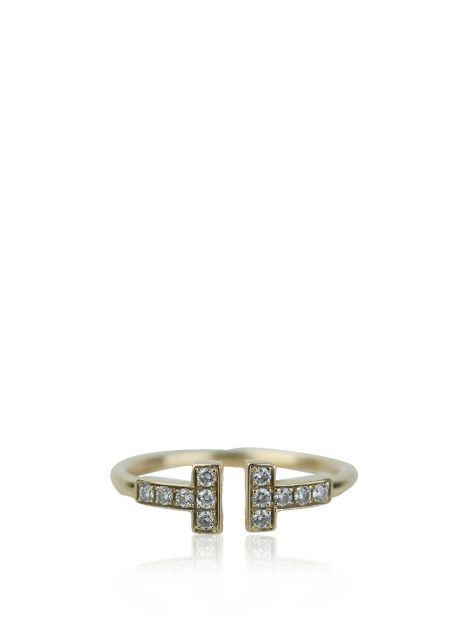 Anel Tiffany & Co Wire T Diamantes