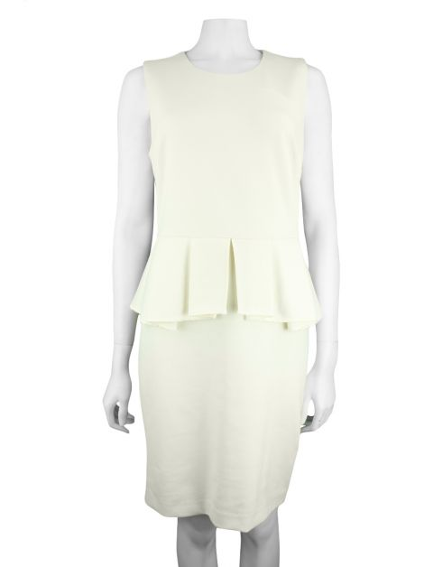 Vestido Juicy Couture Angel Ponte Peplum Off-White