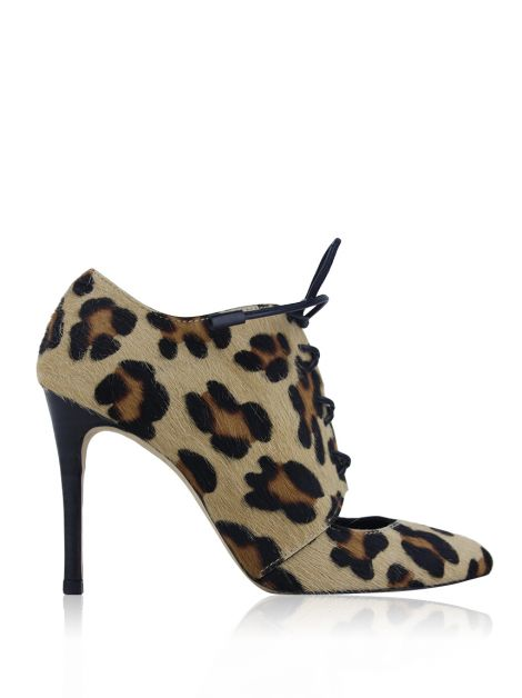 Ankle Boot Carolina Herrera Lace-Up Cavalino Animal Print