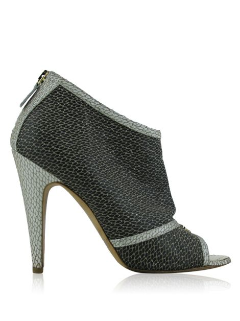 Ankle Boot Chanel Couro Texturizado