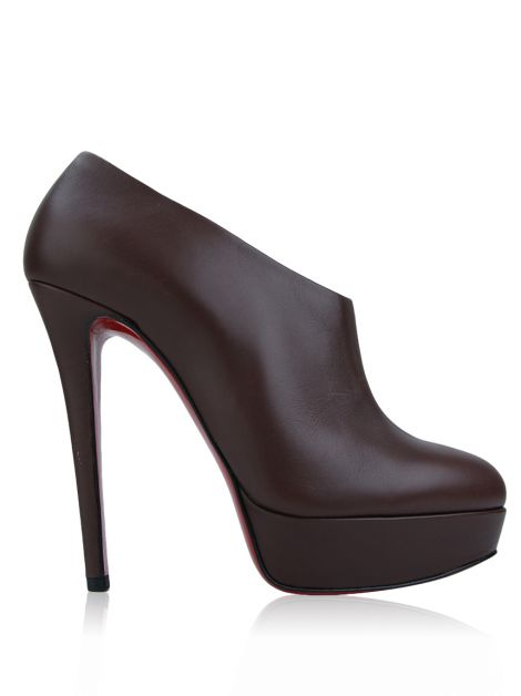 Ankle Boot Christian Louboutin Moulage Marrom