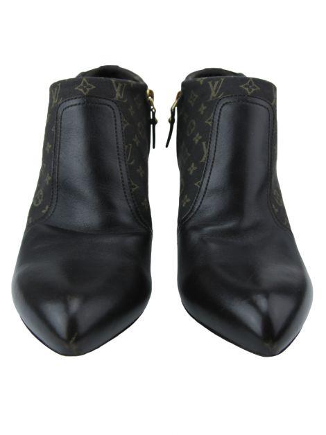 Ankle Boot Louis Vuitton Couro Monograma