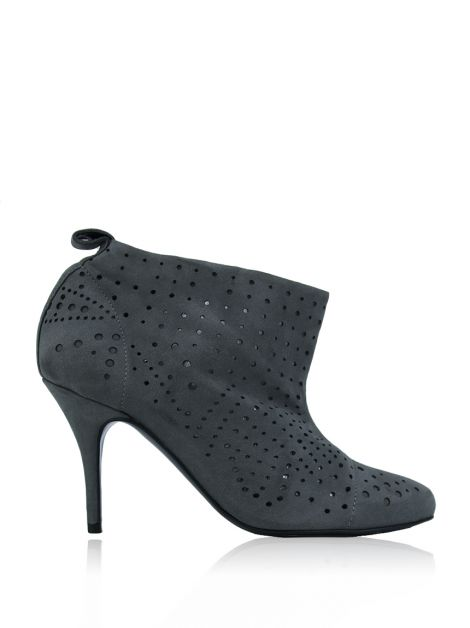 Ankle Boot Stella Mccartney Camurça Cinza