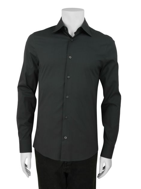 Camisa Armani Exchange Clássica Cinza Masculina